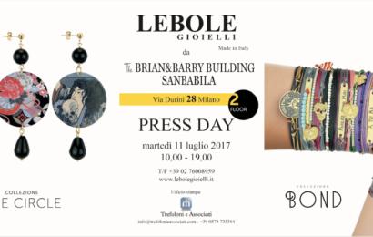 Press Day Lebole Gioielli – 11 Luglio 2017 – 10:00/19:00