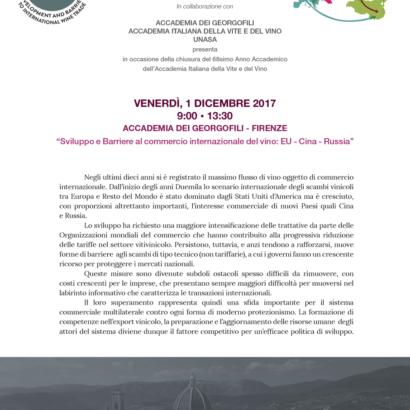 """""""Sviluppo e barriere al commercio internazionale del vino: EU- Cina- Russia"""""""