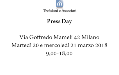 Press Day @ Trefoloni e Associati Milano