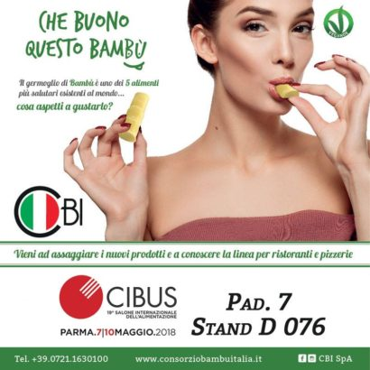 I germogli di bambù made in Italy debuttano al Cibus 2018