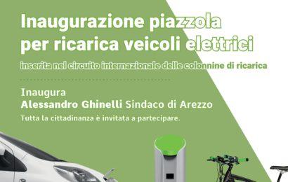 Inaugurazione piazzola per ricarica veicoli elettrici