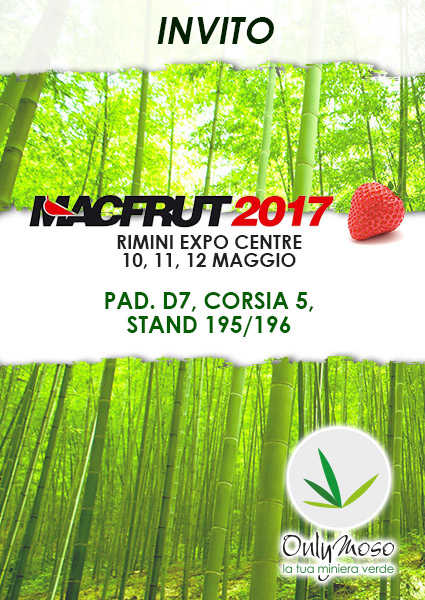 Onlymoso a Macfrut2017 – 10-12 Maggio