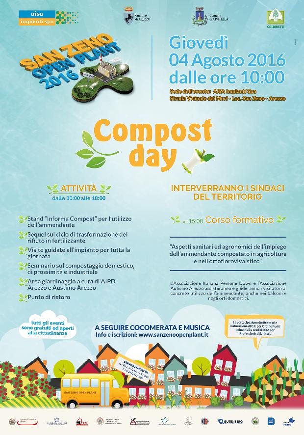 AISA IMPIANTI – COMPOST DAY Giovedì 4 agosto 2016, Strada Vicinale dei Mori, San Zeno – Arezzo