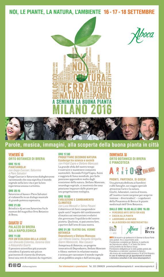 Aboca – A seminar la buona pianta – dal 16 al 18 Settembre 2016 Milano