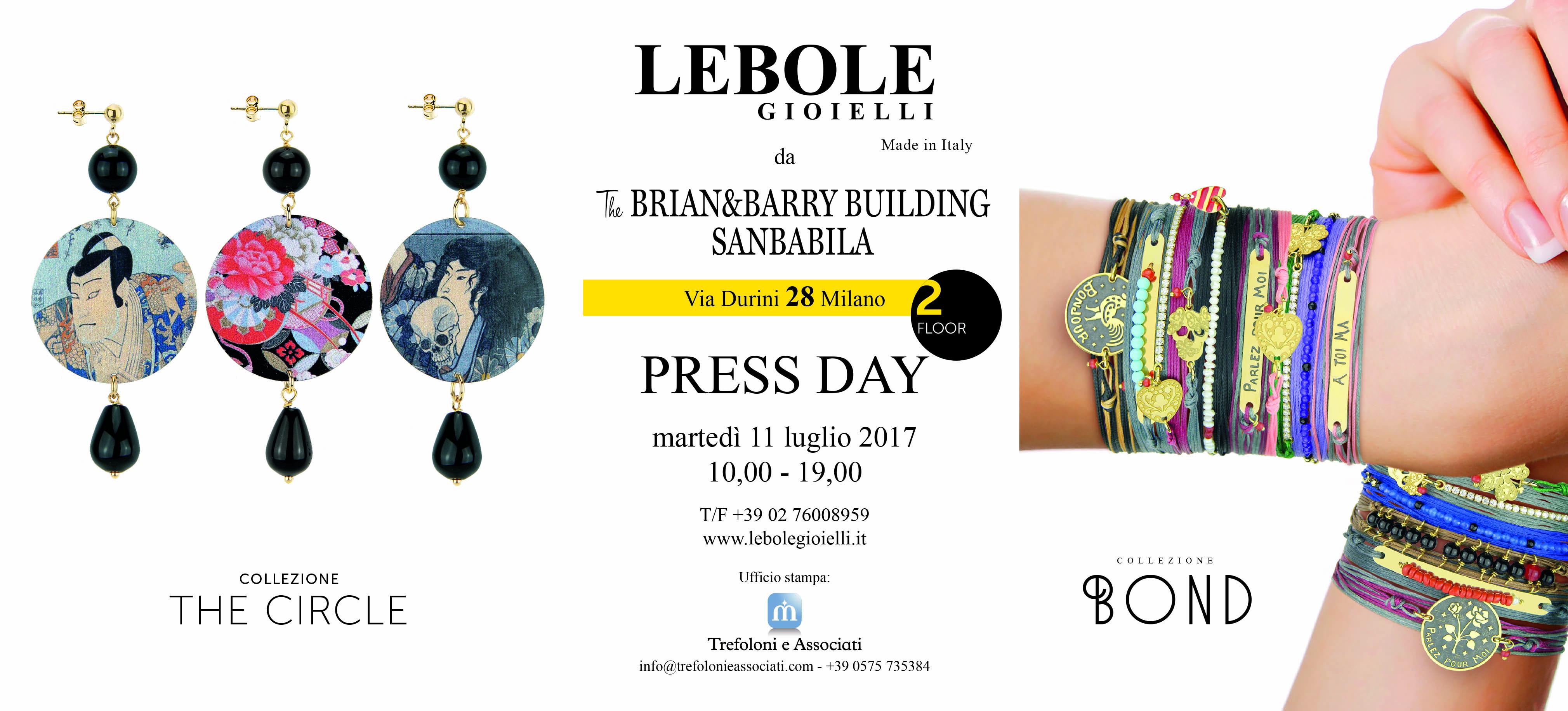 PRESS DAY LEBOLE GIOIELLI – GIOVEDI' 18 FEBBRAIO 2016