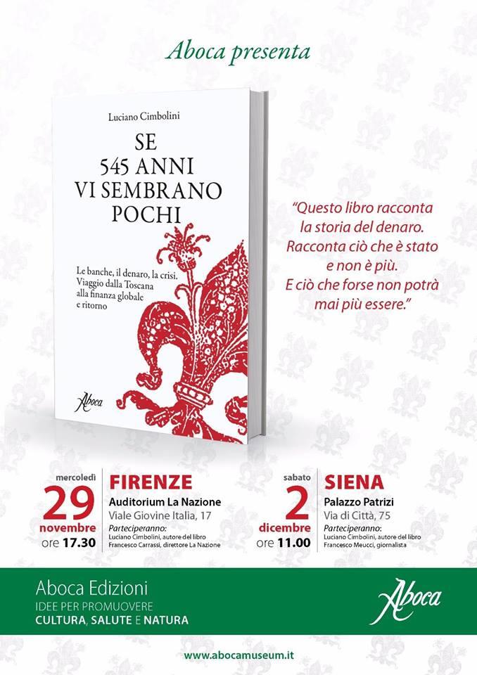"""""""Se 545 anni vi sembrano pochi"""" – Aboca Edizioni"""