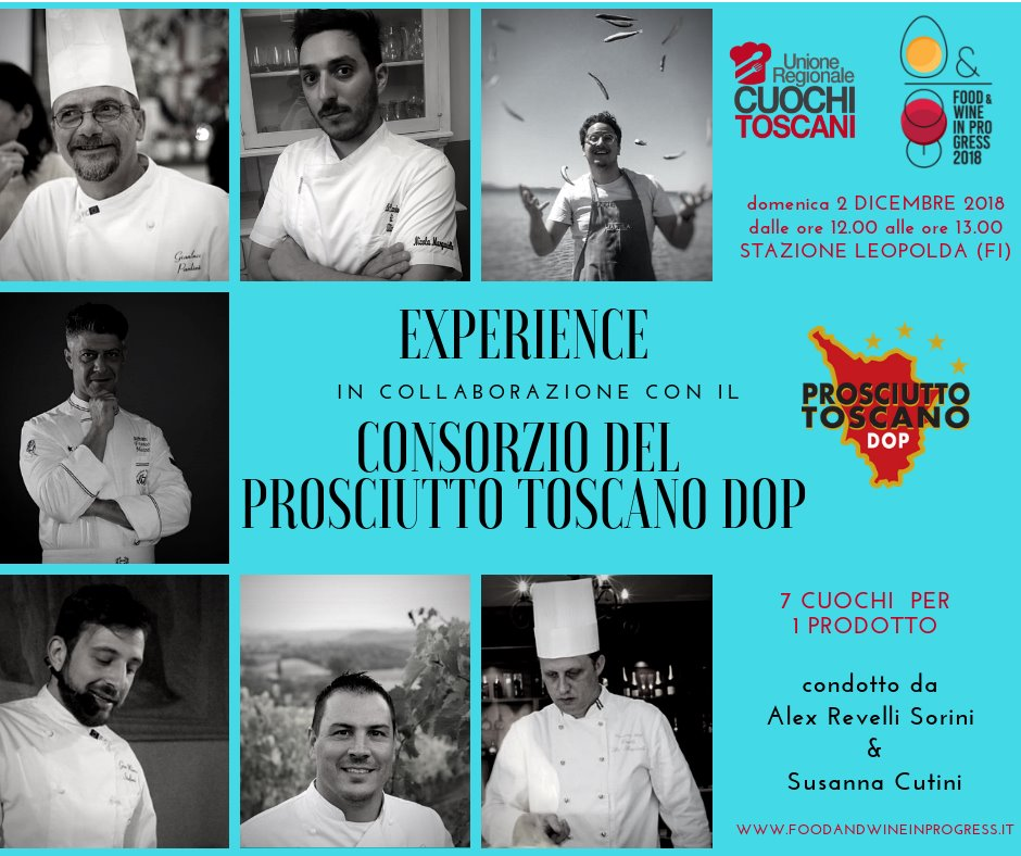 "Prosciutto Toscano DOP per la prima volta a ""Food & Wine in progress"""