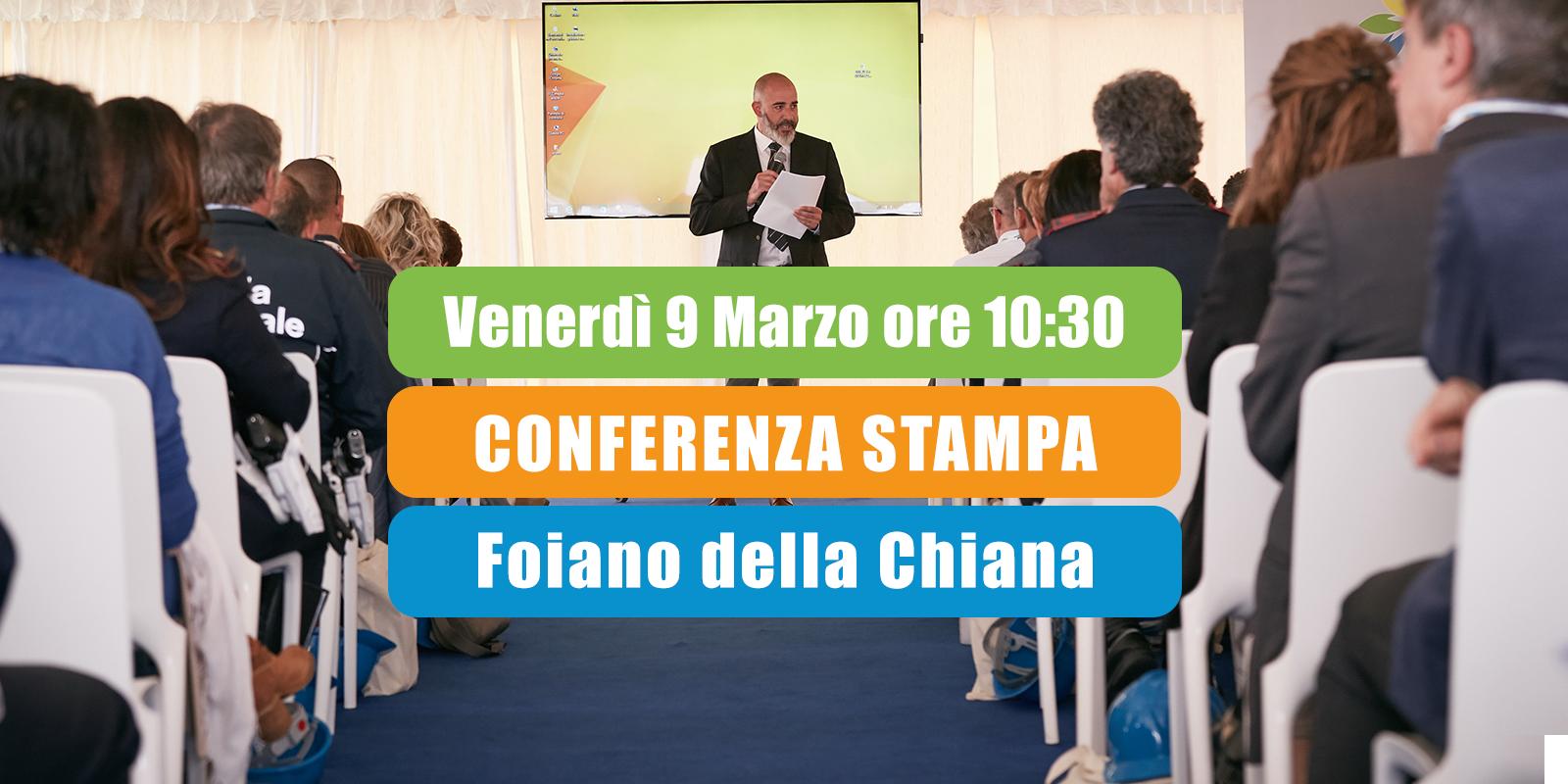 Conferenza Stampa Aisa Impianti @Foiano della Chiana