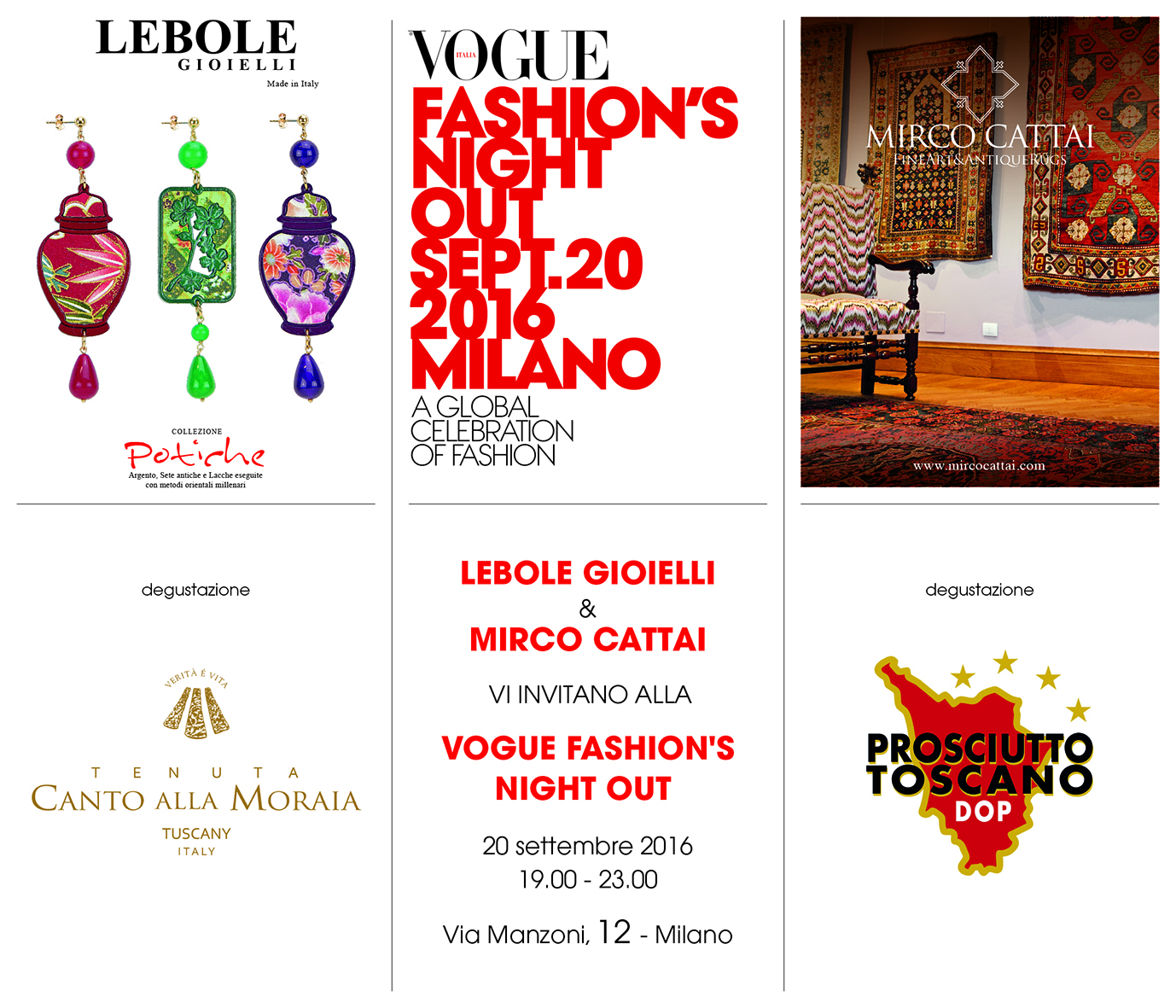 Lebole Gioielli & Mirco Cattai – Vogue Fashion's Night – 20 Settembre Milano.