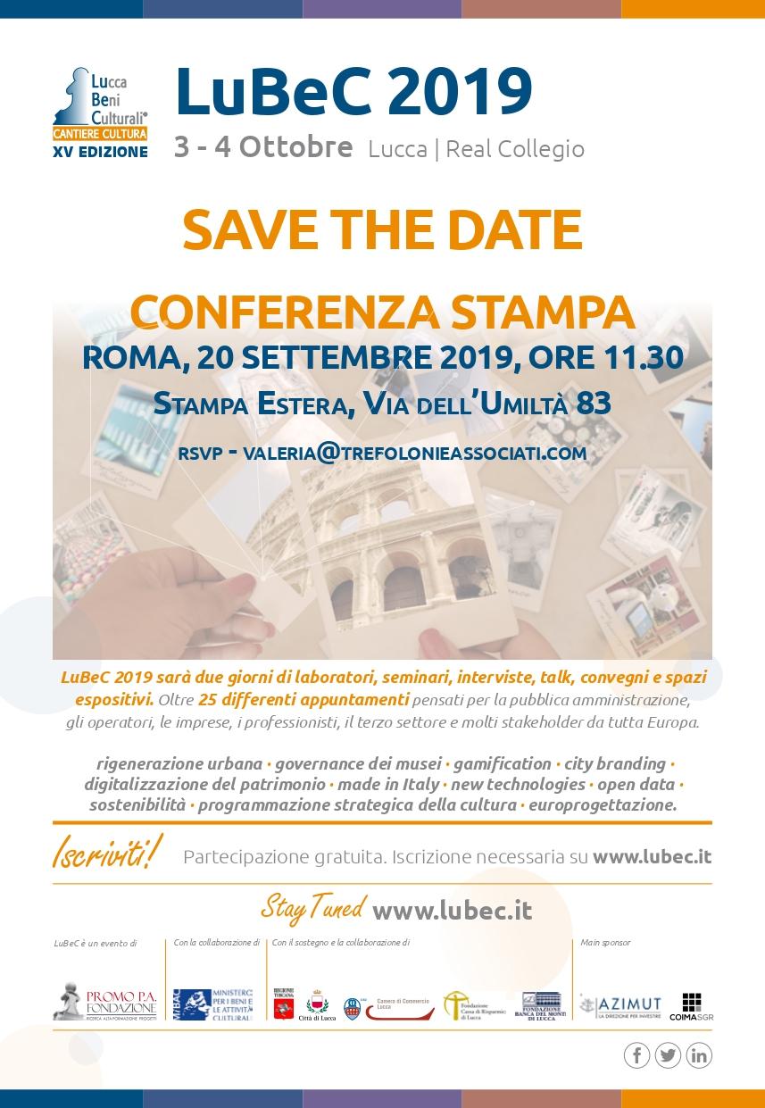 Conferenza Stampa LuBeC 2019